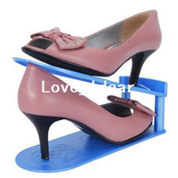Shoes Plastic Storage Holders & Racks freeshipping Adjustable receive double shoe rack store shoes easily receive