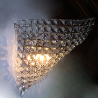 Wholesale Crystal wall lamp transparent Glittering and translucent halbinsel