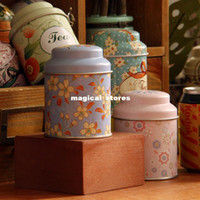 Metal tin box - Small flower metalic box with lid desktop storage Metal box small tin boxes