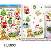 Wholesale Santa Claus Christmas Wall Stickers displaywindow stickers Christmas Ornaments