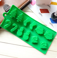 Wholesale FedEx FDA and SGS authentication cupcake boxes Christmas tree silicone mold silicone chocolate mold wand snowman socks