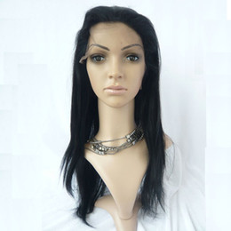 Wholesale Gorgeous quot quot straight B Swiss Full Lace Human Hair Wigs Wig