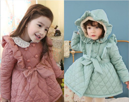 Wholesale Christmas baby girl coat Fashion Cotton padded clothes princess winter warm clothes Children s down coat erbaby