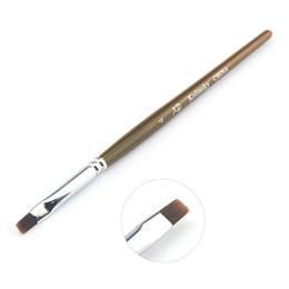 Sistemas de la pluma de madera en venta-Supernova Venta Grado superior mango de madera # 4 Kolinsky gel ULTRAVIOLETA del arte del clavo del sistema de cepillo pintura pluma del diseño del clavo de la herramienta P224