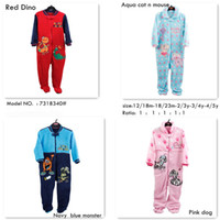 Unisex Winter 12/18m-18/24m-2/3y-3/4y-4/5y 7318340# 4 COLOUR 1Y-5Y baby kids sleepwear pajamas winter coral fleece nightwear children long sleeve sleepsuit Baby Romper Sleeping Bag