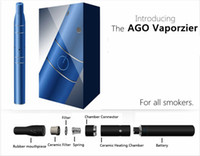 ago stock - Ago G5 dry herb vaporizer pen vapor E cig e cigarette starter kits LCD Puff Counts Portable Pen Dry Herb Cartomizer in stock DHL Free