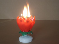 artistic music - 10pcs happy birthday lotus music artistic Candle