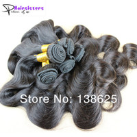 Body Wave Brazilian Hair  5A Brazilian virgin hair body wave 3pcs lot 100% unprocessed hair extensions full and thick 8-26inch natural color can be dyed and bleached