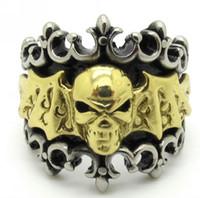 Band Rings batman ring tones - New Arrival L Stainless Steel Gold Silver Tone Batman Bat Men Gothic Men s Finger Ring Size