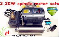 Wholesale 2 KW Water Cooling Spindle Motor Matching Inverter W water pump M Water Pipes MM spindle support and Free ER20