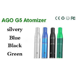 Wholesale AGO G5 Herbal Vapor Atomizer for dry herb vaporizer pen vapor cigarettes ago G5 Pen Style Ecig Suit for Cut tobcco wax Liquid Herb DHL Free
