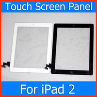 Wholesale 100 original Touch Screen Glass Digitizer Assembly for iPad Replacement Repair Parts With Home Button amp M Adhesive Glue Sticker