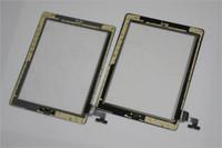 100% оригинал стекла экрана касания агрегат цифрователя для Ipad 2 Ipad 3/4 Замена Ремонт частей с домашней кнопки 3M клей клей наклейки