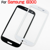 Wholesale Outer Front Glass Lens Screen Digitizer Touch Screen Cover With Brand Logo For Samsung Galaxy S3 SIII I9300 Black White High Quality