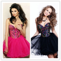 Wholesale - Rhinestone Strapless Sexy Open Back Champagne Bl...