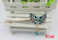 Wholesale Beautiful Butterfly Hair Pins Popular Hairpins for Girls Boutique Hairpins Hair Stick Chinese HJ043