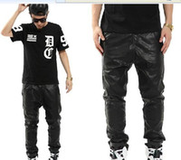 Wholesale New Men s diablo locomotive wind Cultivate one s morality Leather pants Hip hop HIFASHION trousers