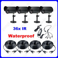12v surveillance camera - Waterproof LED CMOS IR Night Vision Security Surveillance CCTV Camera With V Power Supply x V A V Cable For DVR Kit