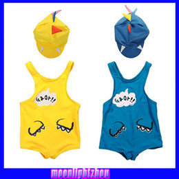Wholesale Boys Dinosaur swimsuit leotard swimsuit swimsuit hat Cartoon Swimwear X