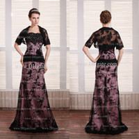 Wholesale New Arrival Sequins Appliques Handmade Flower A Line Strapless Tulle Mother of the Bride Dress with Jacket get bracelet for free