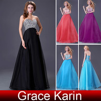 Wholesale 2013 pc Grace Karin Bandage Beaded Prom Gown Cocktail Evening Wedding Long Dresses CL3107