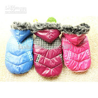 Wholesale 2013 Dog Thermal Clothes Fashion Winter Design Pet Cotton Lammy Pet Jacket with Hooded F143
