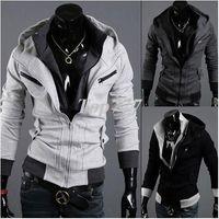 Wholesale 2014 New Men s Cotton Winter Hoodies Dress Cardigan Coat Mens Sports Casual Sweatshirt Jackets Outerwear M XXL