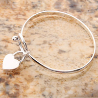Wholesale From USA Arrived New Charming Peach Heart Bangle Bracelet Lover Gift S01752