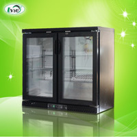 Wholesale Summer two door bar counter display cabinet refrigerated cabinet storage cabinet vertical freezer