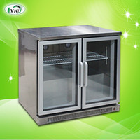 Wholesale Summer two door bar counter display cabinet beer refrigerated cabinet storage cabinet vertical commercial freezer