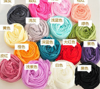 Wholesale 10pcs fashion New Autumn and winter Candy color wrinkle Scarves Pure color Small silk scarves