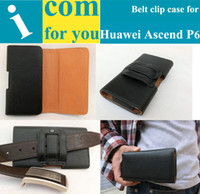 Wholesale Gift Holster Belt Clip Leather case for Huawei Ascend P6 Used in Mountain climbing Bicycle riding Camping Outdoor activities