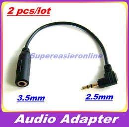 Wholesale Audio Cable Adapter Plug Converter mm Male to mm Female For Media Player Earphone Headphone