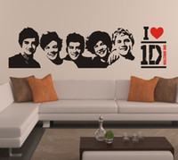 Wholesale One Direction Sticker D Poster Bedroom Living Room Decoration Pictures Removable Wall Art