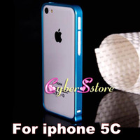 Wholesale thin Aluminum Alloy Metal Frame Hard Bumper Case Cover For iphone C