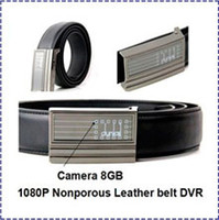 Wholesale HK POST Full HD P buit in MAH Nonporous Leather belt spy Camera DVR with GB GB GB support for work hours