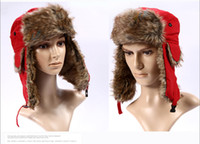 Wholesale Taslan waterproof fabric Korean fashion Unisex warm plush hat ear protection cap many colors