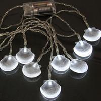 Wholesale LED String Light Shell Battery String Light Christmas Tree Festival Decoration Light m