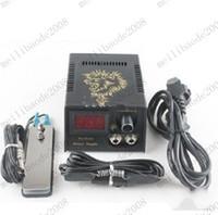 venda por atacado tattoo gun kits-Novo Pro LCD Digital de Tatuagem Fonte de Alimentação de +Pedal Clip cord Kit para Máquina de Arma de Agulha Aderência MYY6533