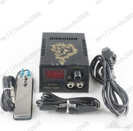 Wholesale New Pro LCD Digital Tattoo Power Supply Footswitch Clip cord Kit for Machine Gun Needle Grip MYY6533