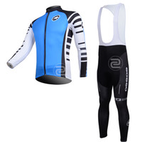 Wholesale 2013 ASSOS cycling long sleeve thermal jersey and bib pants black blue wordwide