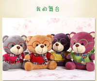 Wholesale Colors Teddy Bear Plush Stuffed Animals Toys Plush Doll Christmas Gift cm L346