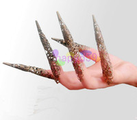 Wholesale free ship ethnic dance Avalokitesvara belly dance nail sets belly dance nail wrap false finger nail india dance performance accessories