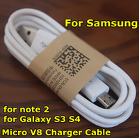 Wholesale Micro USB Charger Cable for Samsung Galaxy S4 Note m ft Sync Data Charging Adapter Lead Cord for HTC Blackberry Cell Phones Universal