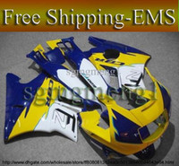 Comression Mold For Honda CBR600 F2 EMS yellow blue ABS Fairing for CBR600F2 91 92 93 94 Body Kit Fairing Set for Honda CBR600 CBR 600 F2 1991 1992 1993 1994 AF