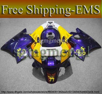 Comression Mold For Honda CBR600 F2 EMS Purple yellow ABS Fairing for CBR600F2 91 92 93 94 Body Kit Fairing Set for Honda CBR600 CBR 600 F2 1991 1992 1993 1994 Aftermarket Moto