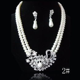 Wholesale Bridal necklace earrings Set wedding jewelry set styles acceptable set retaile
