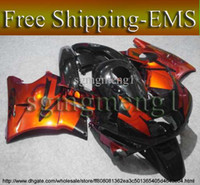 Comression Mold For Honda CBR600 F2 EMS Orange black ABS Fairing for CBR600F2 91 92 93 94 Bodywork Fairing Set for Honda CBR600 CBR 600 F2 1991 1992 1993 1994 ABS Plastic Bodyw