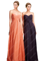 Wholesale 2013 Evening Dresses Sexy Prom Dress Sweetheart Coral Floor Length Ruffles Chiffon Bridesmaid Dresses SI120