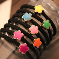 Wholesale Korea Enamel Apple love rubber band hair accessories hair ring hair rope rope headdress popular Korean version of g